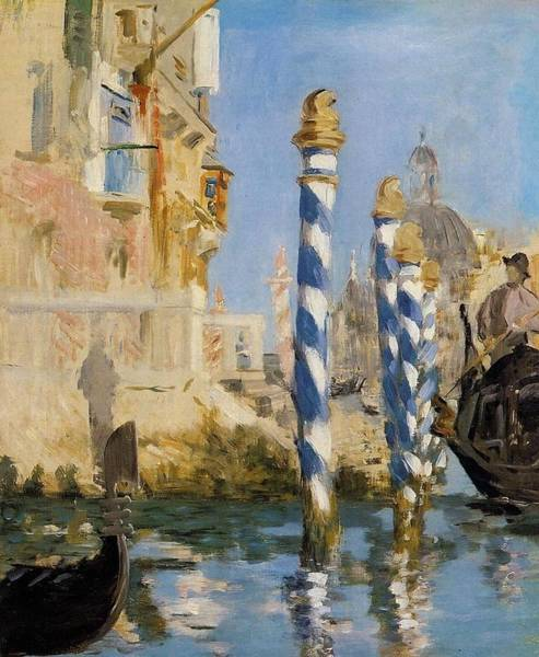 Wall Art - Painting - The Grand Canal by Edouard Manet