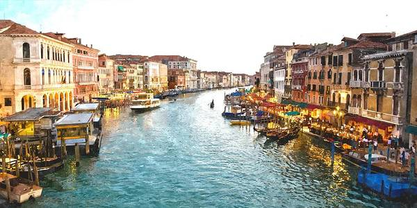 Venezia Photograph - The Grand Canal Of Venice by Gianfranco Weiss