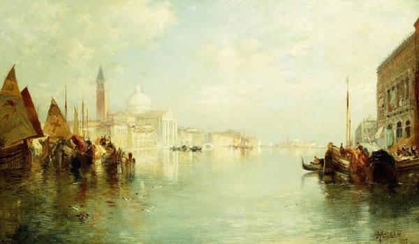 Moran Painting - The Grand Canal by Thomas Moran