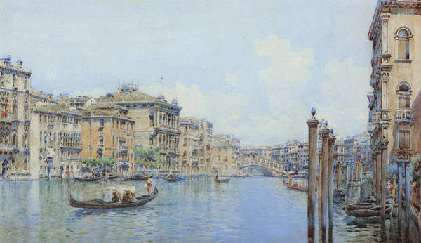 Italy Drawing - The Grand Canal With A View Of Palace by Gino de Colle