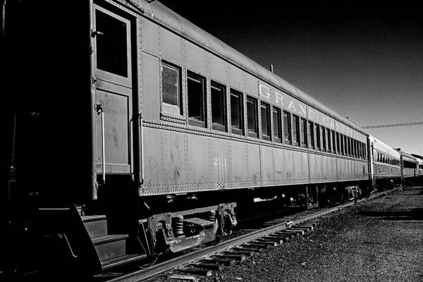 Photograph - The Grand Canyon Express 1 Black And White by James Sage