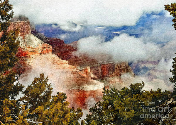 Painting - The Grand Canyon National Park by Bob and Nadine Johnston