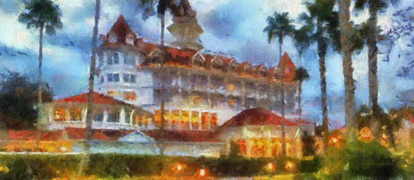 Adventureland Photograph - The Grand Floridian Resort Wdw 01 Photo Art by Thomas Woolworth
