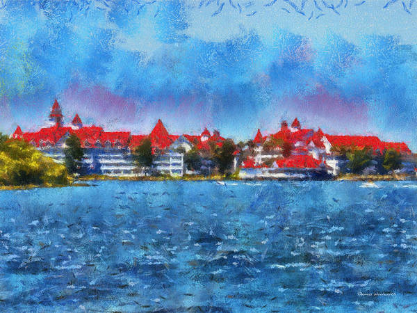 Adventureland Photograph - The Grand Floridian Resort Wdw 03 Photo Art by Thomas Woolworth