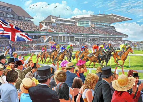 Wall Art - Painting - The Grand National Aintree by MGL Meiklejohn Graphics Licensing