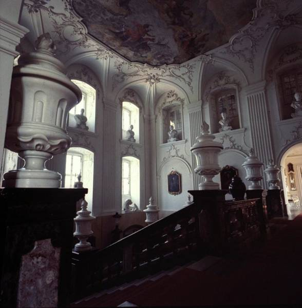 Central Europe Photograph - The Grand Staircase At Schloss Fasanerie by Horst P. Horst