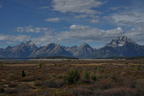 Photograph - The Grand Tetons by Frank Madia