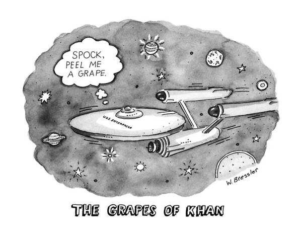 Grape Drawing - The Grapes Of Khan 'spock by Wayne Bressle