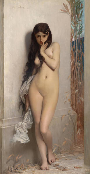 Pussy Painting - The Grasshopper by Jules Joseph Lefebvre