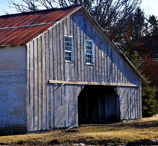Amana Wall Art - Painting - The Gray Barn by Kirt Tisdale