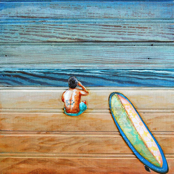 Beach Collage Painting - The Great Beyond by Danny Phillips