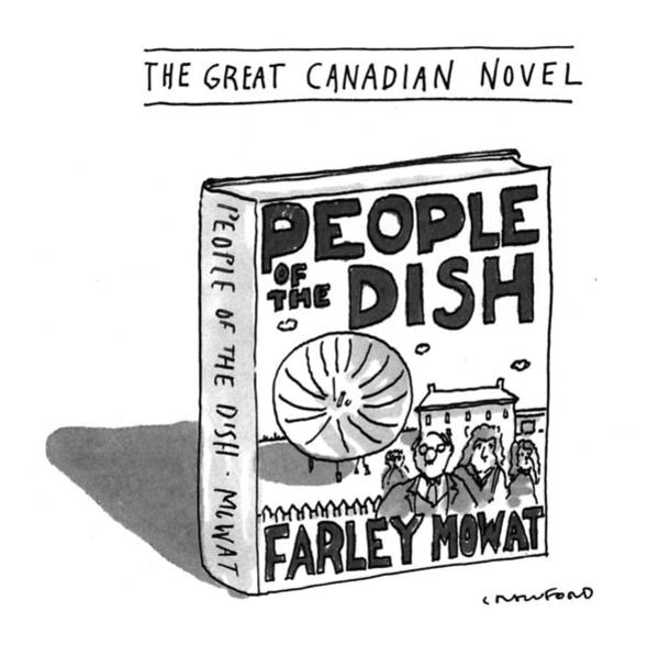 Celebrities Drawing - The Great Canadian Novel by Michael Crawford
