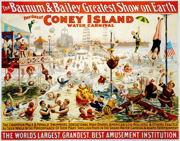 Bailey Digital Art - The Great Coney Island Water Carnival by Georgia Fowler