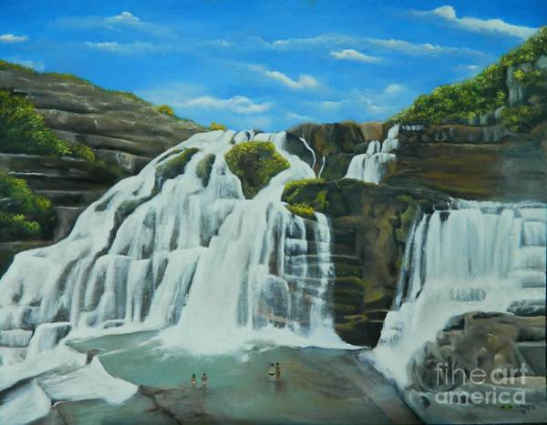 Overflow Painting - The Great Falls by Kenneth Harris