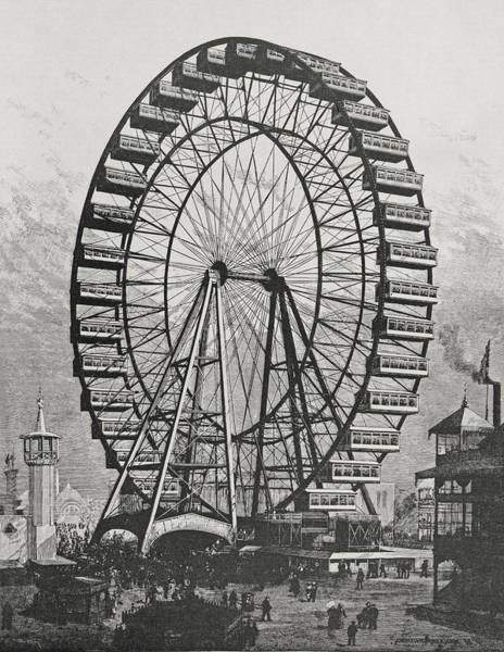 Ferris Wall Art - Drawing - The Great Ferris Wheel In The World Columbian Exposition, 1st July 1893 by American School