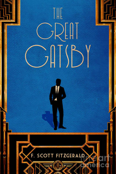 Front Room Digital Art - The Great Gatsby Book Cover Movie Poster Art 2 by Nishanth Gopinathan