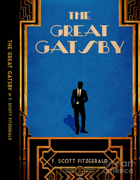 Front Room Digital Art - The Great Gatsby Book Cover Movie Poster Art 4 by Nishanth Gopinathan