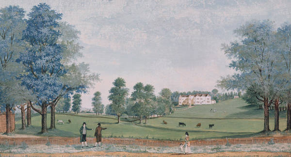 Jane Austen Wall Art - Painting - The Great House And Park At Chawton by Adam Callander