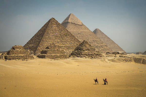 Giza Photograph - The Great Pyramids At Giza by Claire Thomas Photography