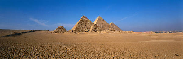 Historic Triangle Photograph - The Great Pyramids Giza Egypt by Panoramic Images