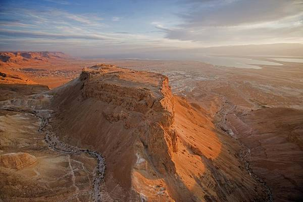Wall Art - Photograph - The Great Refuge Of Masada Looms by Michael Melford