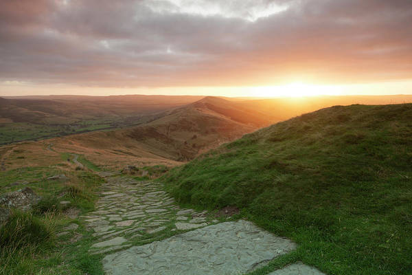 Peak District National Park Photograph - The Great Ridge From Mam Tor At Sunrise by Chris Mellor