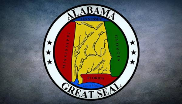 Photograph - The Great Seal Of The State Of Alabama by Movie Poster Prints