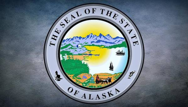 Photograph - The Great Seal Of The State Of Alaska  by Movie Poster Prints