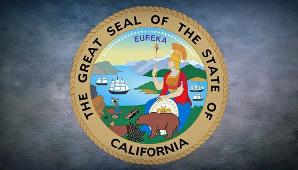 Photograph - The Great Seal Of The State Of California by Movie Poster Prints