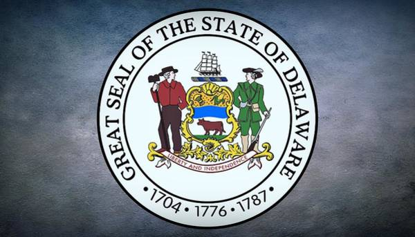 Photograph - The Great Seal Of The State Of Delaware by Movie Poster Prints