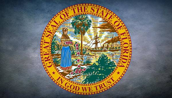 Photograph - The Great Seal Of The State Of Florida by Movie Poster Prints
