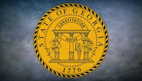 Photograph - The Great Seal Of The State Of Georgia by Movie Poster Prints