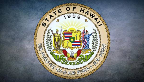 Photograph - The Great Seal Of The State Of Hawaii  by Movie Poster Prints