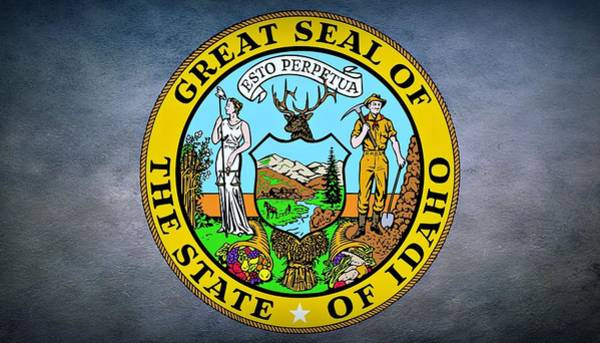 Photograph - The Great Seal Of The State Of Idaho by Movie Poster Prints