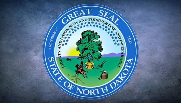 United States Territory Photograph - The Great Seal Of The State Of North Dakota by Movie Poster Prints