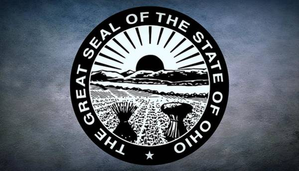 United States Territory Photograph - The Great Seal Of The State Of Ohio  by Movie Poster Prints