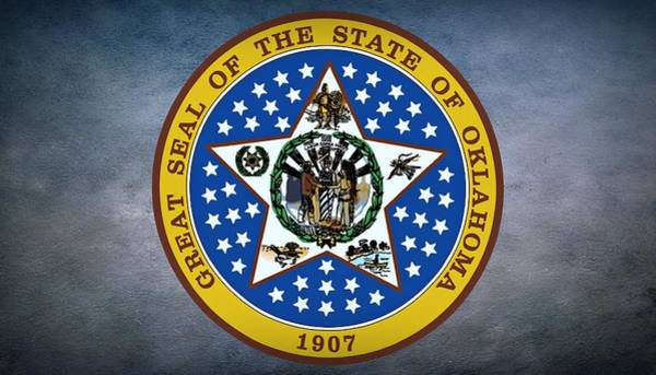 Village Creek Photograph - The Great Seal Of The State Of Oklahoma by Movie Poster Prints