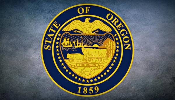 United States Territory Photograph - The Great Seal Of The State Of Oregon  by Movie Poster Prints