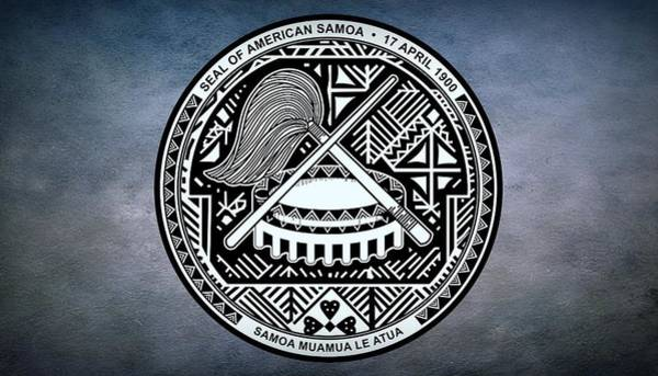 Photograph - The Great Seal Of The Territory Of American Samoa by Movie Poster Prints