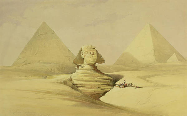 Wall Art - Painting - The Great Sphinx And The Pyramids Of Giza by David Roberts