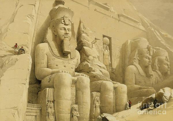 Pharaoh Painting - The Great Temple Of Abu Simbel by David Roberts
