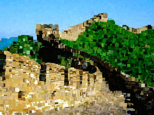 Post-it Painting - The Great Wall Of China by Bruce Nutting