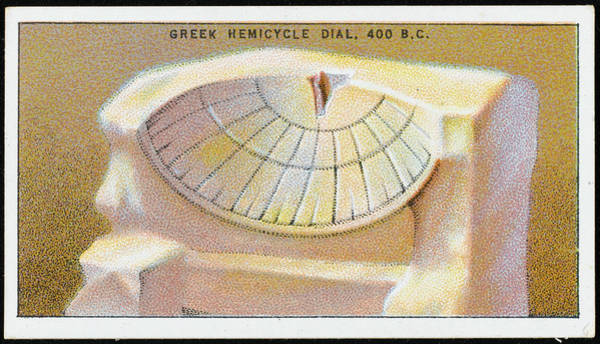 Wall Art - Drawing - The Greek Hemicycle Dial Is An  Early by Mary Evans Picture Library