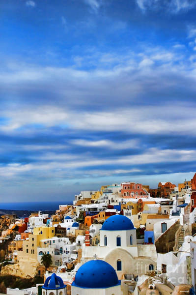 Framing Photograph - The Greek Isles-oia by Tom Prendergast