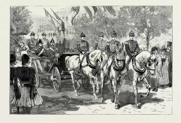 Wall Art - Drawing - The Greek Royal Wedding, Arrival Of The Royal Party by Litz Collection