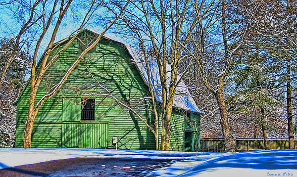 Photograph - The Green Barn by Bonnie Willis