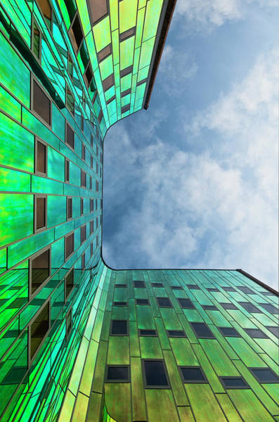 The Green Building Art Print by Leon