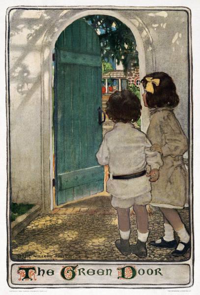 Wall Art - Drawing - The Green Door, 1904 by Granger