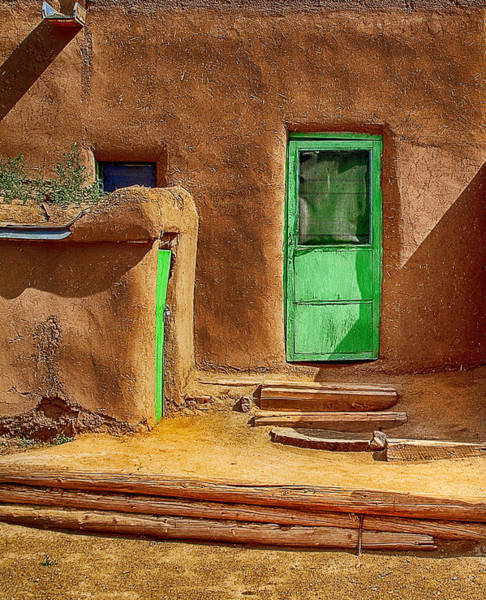 Photograph - The Green Door by Wayne Wood