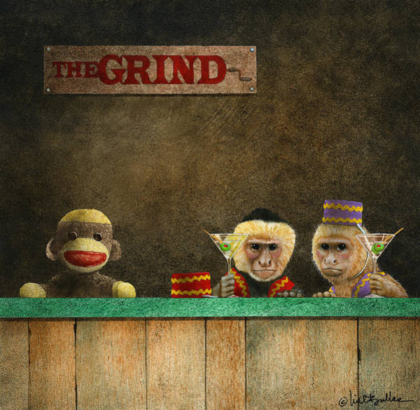 Bar Scene Painting - The Grind by Will Bullas